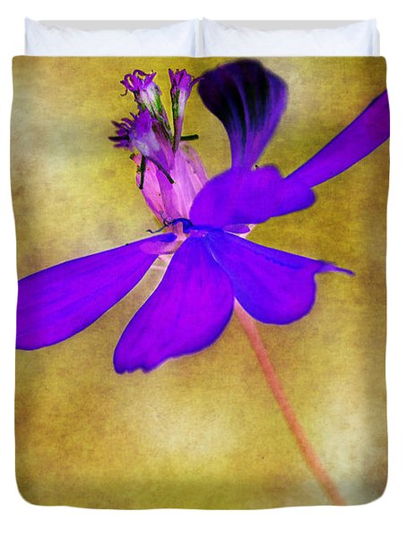 Flower Take Flight Duvet Cover by Judi Bagwell