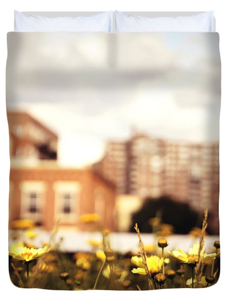 Flowers - High Line Park - New York City Duvet Cover by Vivienne Gucwa