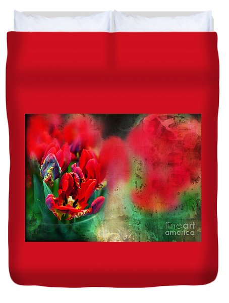 Duvet Cover featuring the photograph Flowers by Ariadna De Raadt
