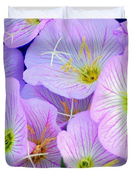 Flowers Flowers Duvet Cover by Marty Koch