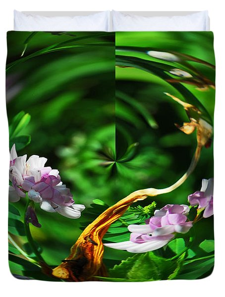 Flowers Gone Wild Duvet Cover by Cindy Manero