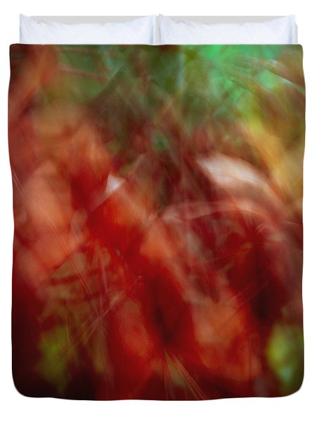 Flowers In The Wind 2 Duvet Cover by Skip Nall