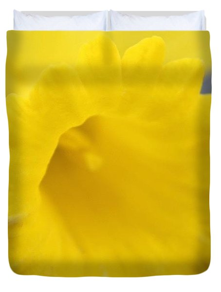 Daffodil Close Up Duvet Cover