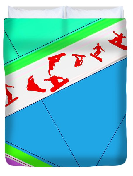 Flying Boards Duvet Cover