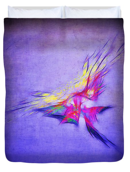 Flying Into The Sun Duvet Cover by Judi Bagwell