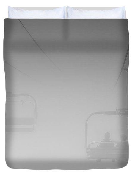 Duvet Cover featuring the photograph Fog by Eunice Gibb