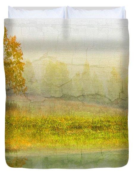 Foggy Meadow Duvet Cover by Debra and Dave Vanderlaan