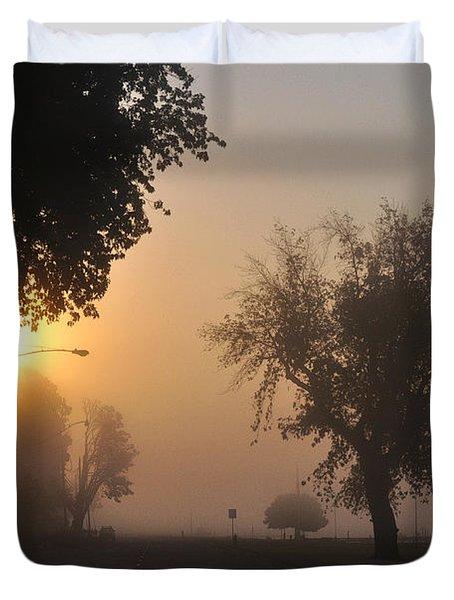 Foggy Morn Street Duvet Cover