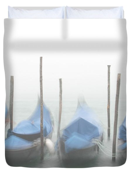 Foggy Morning Grand Canal Duvet Cover