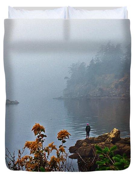 Foggy Morning Duvet Cover by Robert Bales