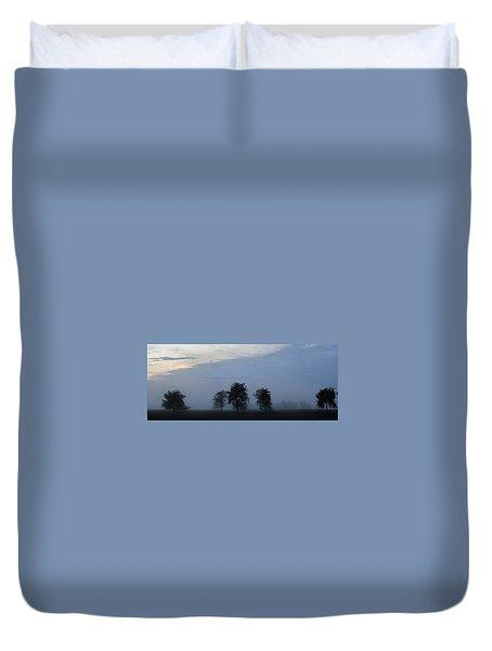 Foggy Pennsylvania Treeline Duvet Cover