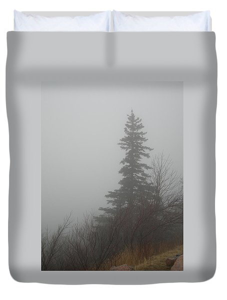Foggy Sentinel Duvet Cover by Skip Willits