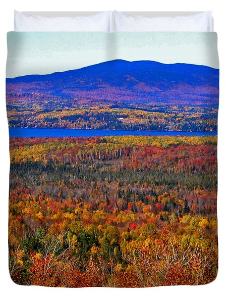 Foliage From Height Of Land Duvet Cover