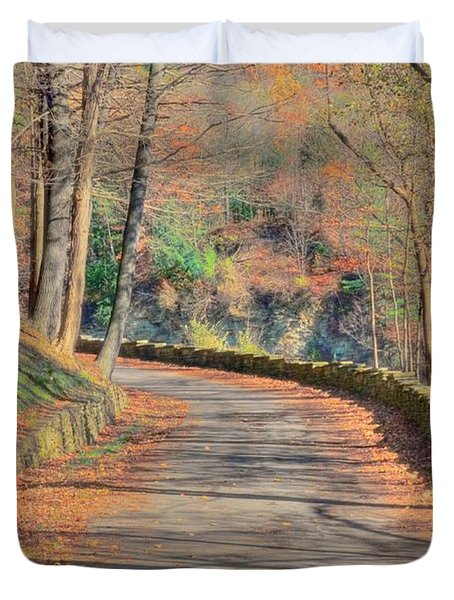 Follow The Path Duvet Cover by Kathleen Struckle
