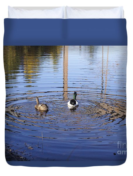 Following Theirs Path By Line Gagne Duvet Cover by Line Gagne