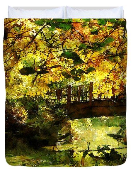 Foot Bridge Duvet Cover by Susan Savad