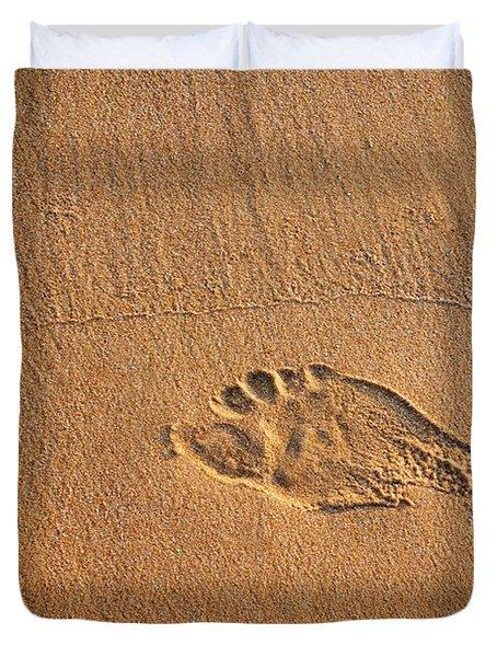 Foot Print Duvet Cover by Carlos Caetano