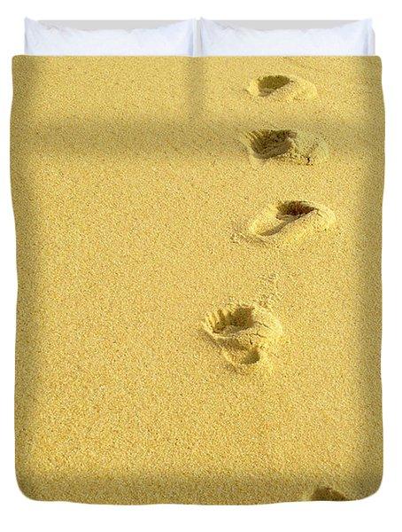Foot Prints Duvet Cover by Carlos Caetano