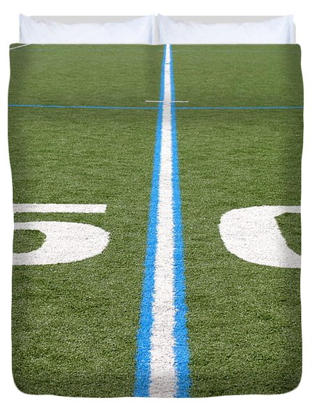 Football Field Fifty Duvet Cover