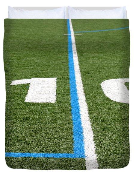 Duvet Cover featuring the photograph Football Field Ten by Henrik Lehnerer