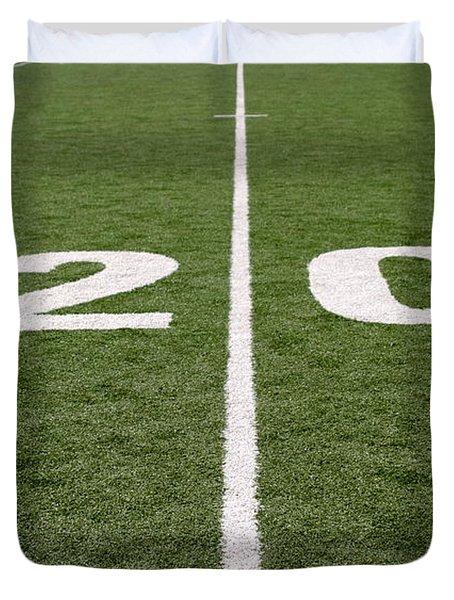 Duvet Cover featuring the photograph Football Field Twenty by Henrik Lehnerer