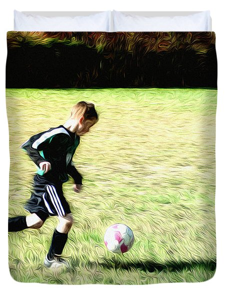 Footballer Duvet Cover by Bill Cannon