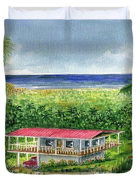 Foothills Of El Yunque Puerto Rico Duvet Cover
