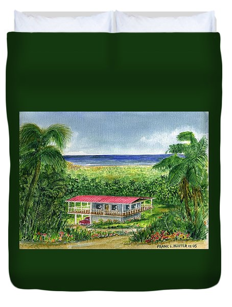 Foothills Of El Yunque Puerto Rico Duvet Cover by Frank Hunter