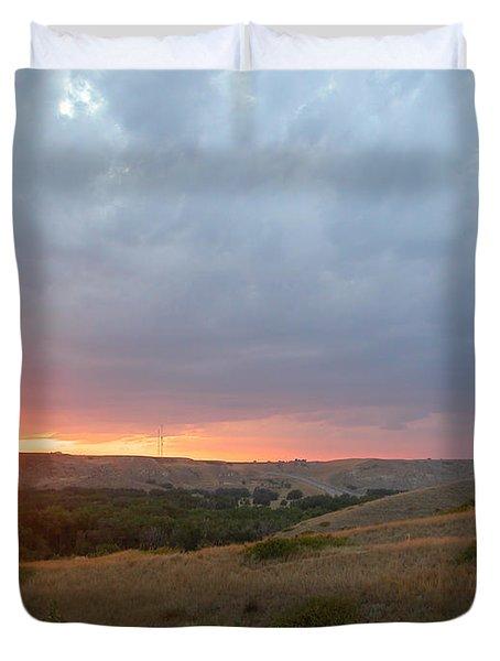 Foothills Sunset Duvet Cover by Stuart Turnbull