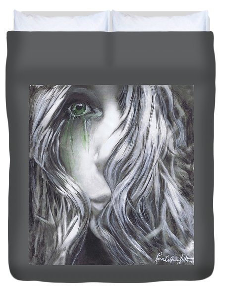 Forced  To See Duvet Cover by Renee Catherine Wittmann
