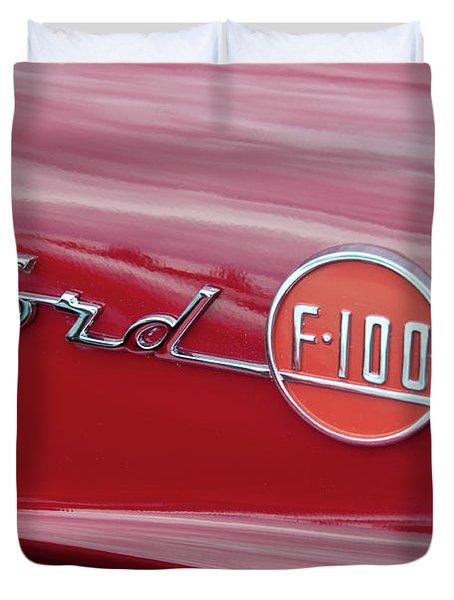 Ford F-100 Nameplate Duvet Cover by Guy Whiteley