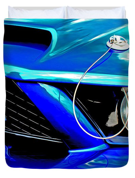 Duvet Cover featuring the digital art Ford Mustang Cobra by Tony Cooper
