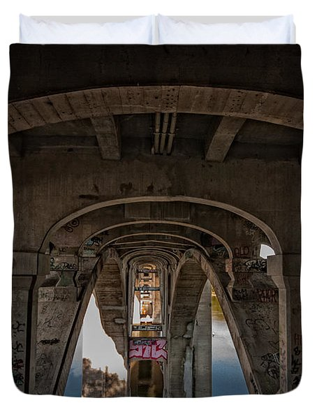 Duvet Cover featuring the photograph Ford Parkway Bridge by Tom Gort