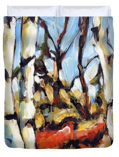 Forest Edge By Prankearts Duvet Cover by Richard T Pranke