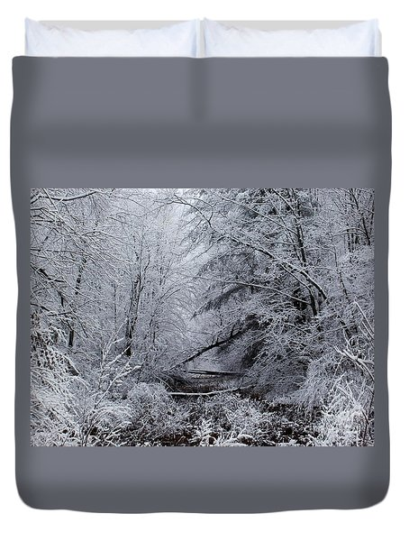 Duvet Cover featuring the photograph Forest Lace by Christian Mattison