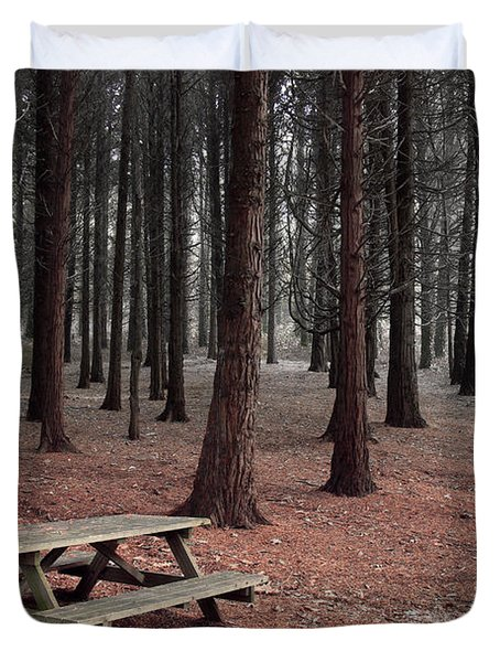 Forest Table Duvet Cover by Carlos Caetano