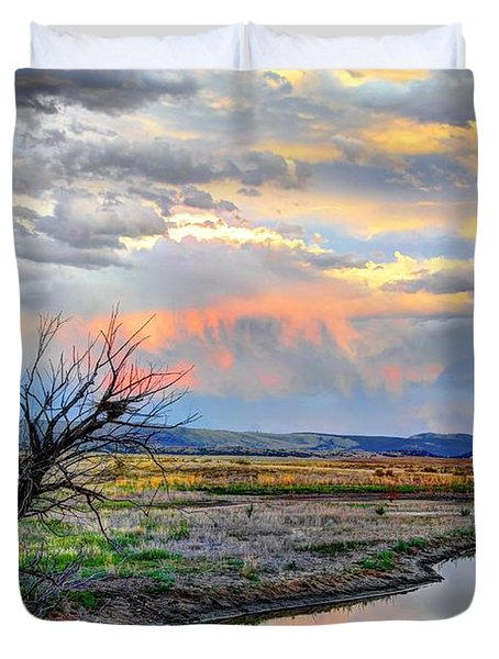 Duvet Cover featuring the photograph Forever West by Anthony Wilkening