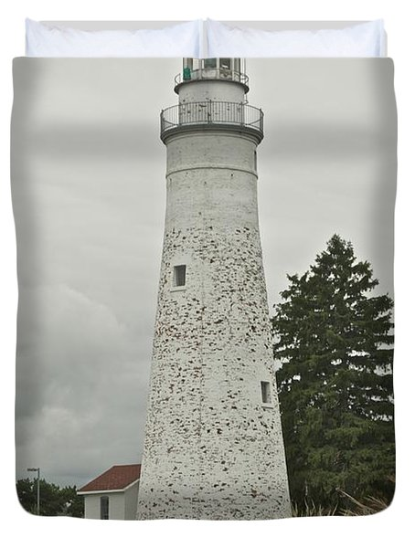 Fort Gratiot Lighthouse Duvet Cover by Michael Peychich