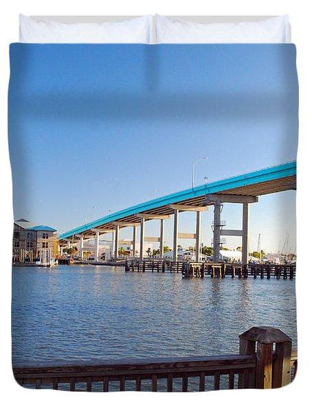 Fort Myers Bridge Duvet Cover