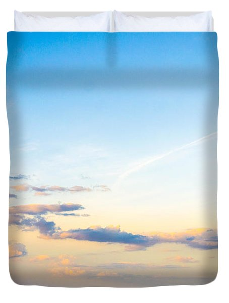 Duvet Cover featuring the photograph Forte Clinch Pier by Shannon Harrington