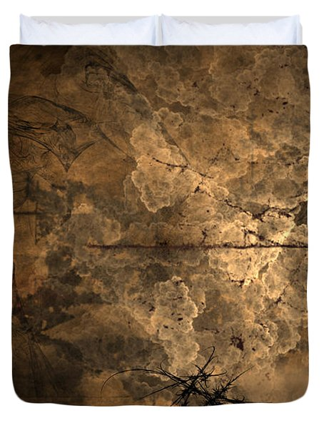 Fossilite Duvet Cover by Christopher Gaston