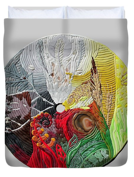 Four Directions  2 Duvet Cover by Arla Patch