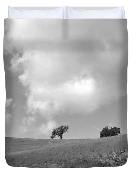 Duvet Cover featuring the photograph Four On The Hill by Kathleen Grace