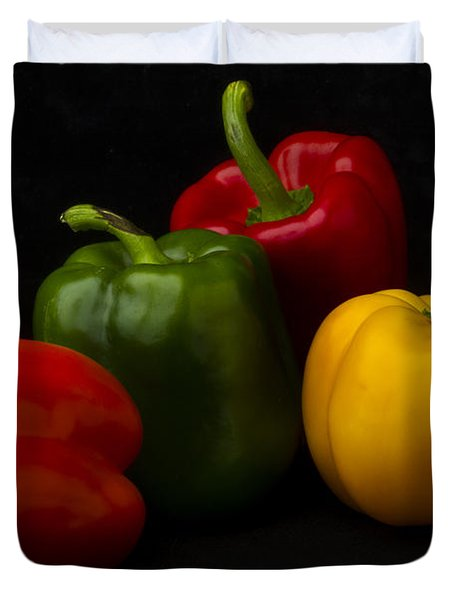 Four Peppers Duvet Cover by Frederic A Reinecke