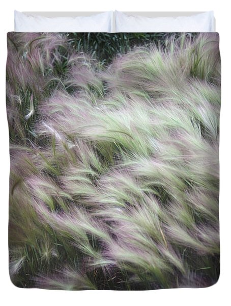 Foxtail Barley And Campion Duvet Cover