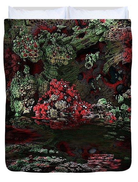 Fractal Alien Landscape Duvet Cover by David Lane