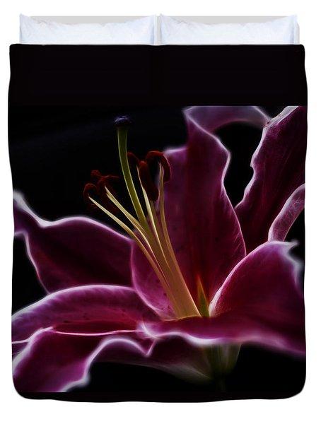 Fractal Lily Petals Duvet Cover
