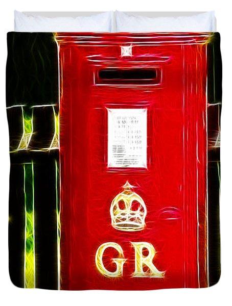 Fractalius Pillar Box Duvet Cover by Chris Thaxter