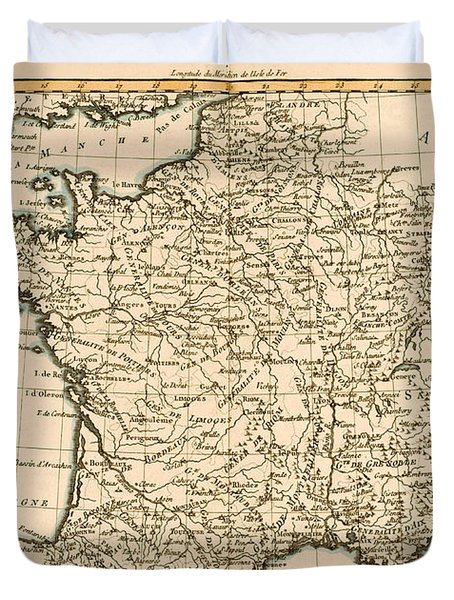 France By Regions Duvet Cover by Guillaume Raynal