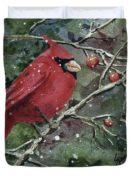 Franci's Cardinal Duvet Cover